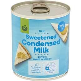 Woolworths Sweetened Condensed Milk 397g