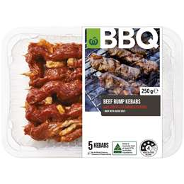 Woolworths Bbq Beef Rump Kebabs With Chipotle & Smoked Paprika 250g