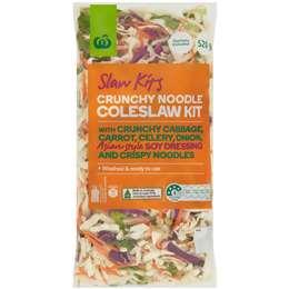 Woolworths Crunchy Noodle Coleslaw Kit 520g