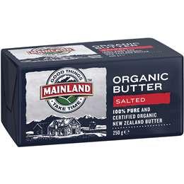 Mainland Organic Butter 250g