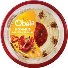 Obela Hommus Roasted Capsicum 220g