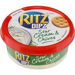 Ritz Dipz Sour Cream & Chives 185g