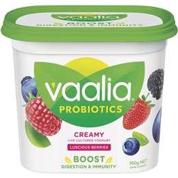 Vaalia Low Fat Luscious Berries Yoghurt 900g