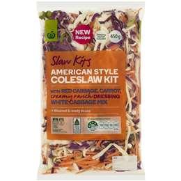 Woolworths American Style Coleslaw Kit 450g