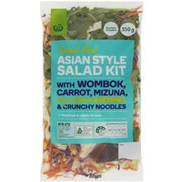 Woolworths Asian Style Salad Kit 350g