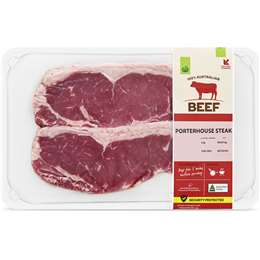 Woolworths Beef Porterhouse Steak Medium 320g – 800g