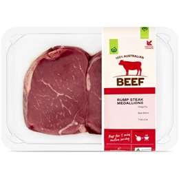 Woolworths Beef Rump Steak Medallion Small 300g