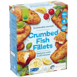 Woolworths Fish Fillets Crumbed 425g