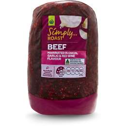 Woolworths Simply Roast Beef In Onion, Garlic And Red Wine 800g – 1.5kg